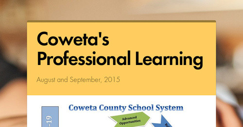 Coweta's Professional Learning