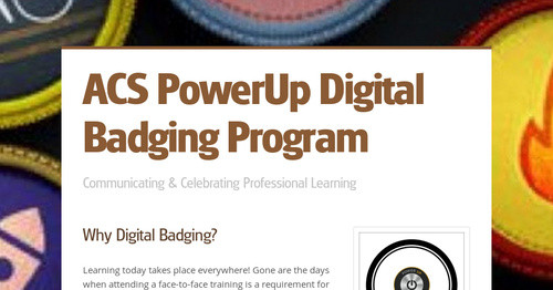 ACS PowerUp Digital Badging Program