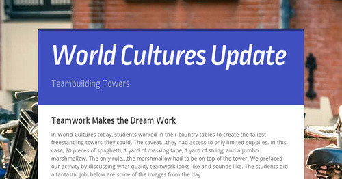 World Cultures Update