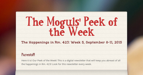 The Moguls' Peek of the Week