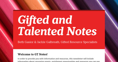 Gifted and Talented Notes