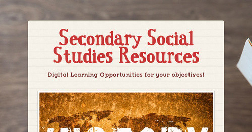 Secondary Social Studies Resources