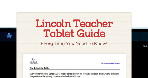 Lincoln Teacher Tablet Guide
