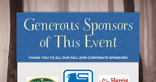 Generous Sponsors of This Event