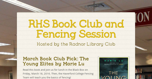 RHS Book Club and Fencing Session