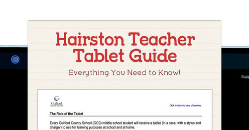 Hairston Teacher Tablet Guide