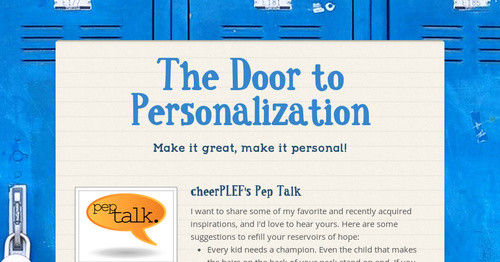 The Door to Personalization