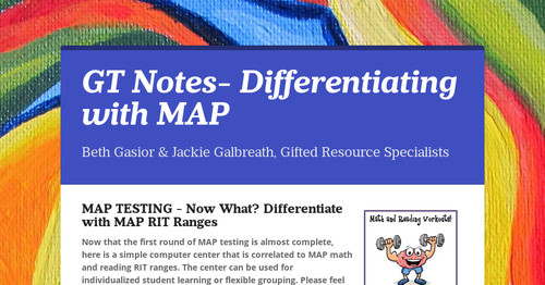 GT Notes- Differentiating with MAP
