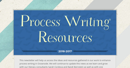 Process Writing Resources