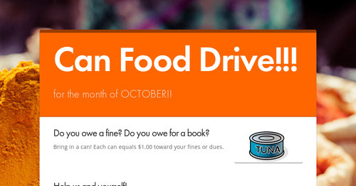 Can Food Drive!!!