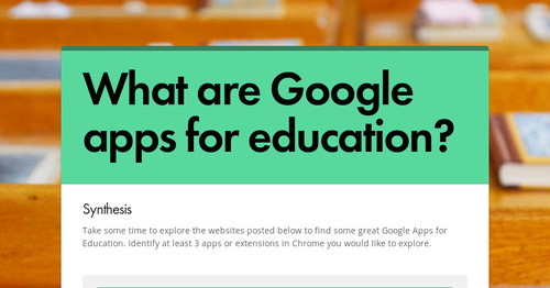 What are Google apps for education?