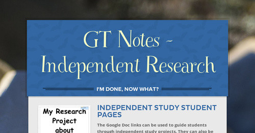 GT Notes -  Independent Research