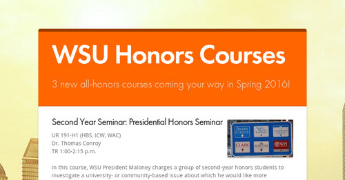 WSU Honors Courses