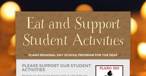 Eat and Support Student Activities