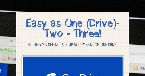 Easy as One (Drive)- Two - Three!