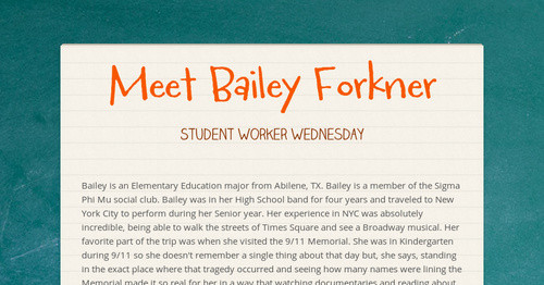 Meet Bailey Forkner