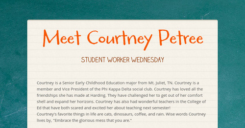 Meet Courtney Petree