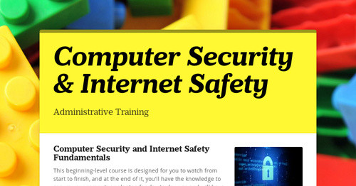 Computer Security & Internet Safety
