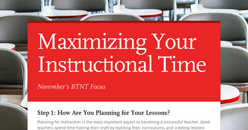 Maximizing Your Instructional Time
