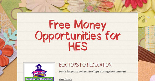 Free Money Opportunities for HES