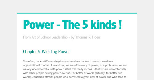 Power - The 5 kinds !