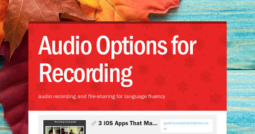 Audio Options for World Languages