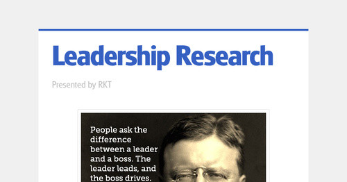Leadership Research