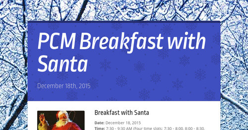 PCM Breakfast with Santa