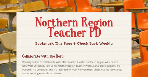 Northern Region Teacher PD