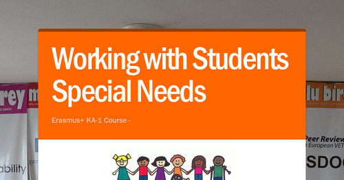 Working with Students Special Needs