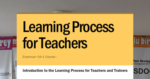 Learning Process for Teachers