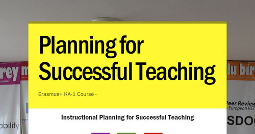 Planning for Successful Teaching