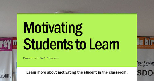 Motivating Students to Learn