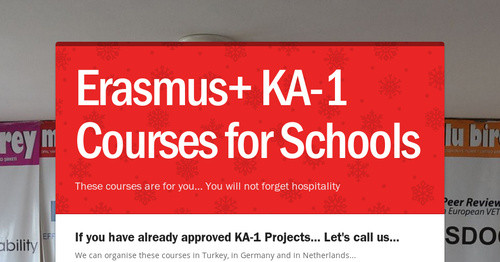 Erasmus+ KA-1 Courses for Schools