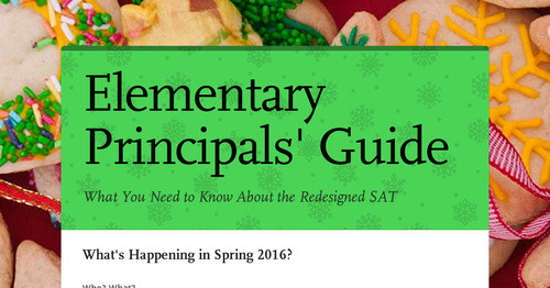 Elementary Principals' Guide