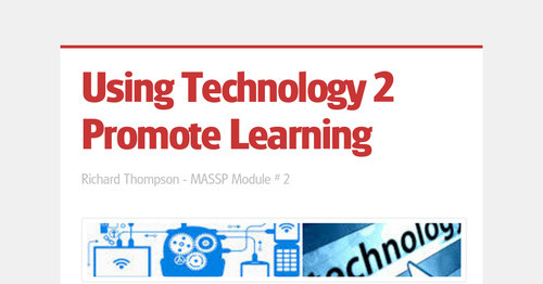 Using Technology 2 Promote Learning