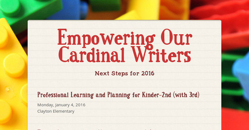Empowering Our Cardinal Writers