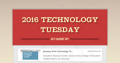 2016 Technology Tuesday