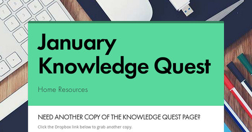 January Knowledge Quest