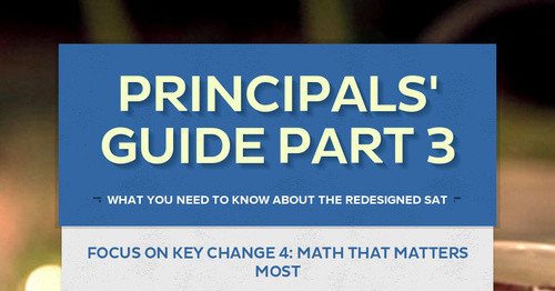 Principals' Guide Part 3