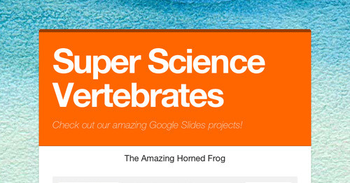 Super Science Vertebrates