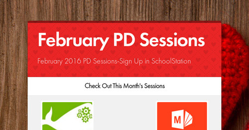 February PD Sessions