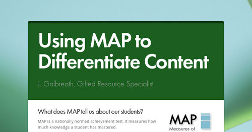 Using MAP to Differentiate Content