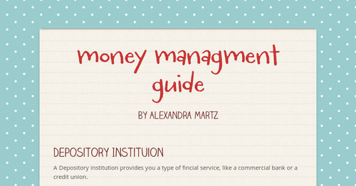 money managment guide