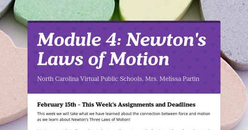 Module 4: Newton's Laws of Motion