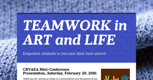 TEAMWORK in ART and LIFE