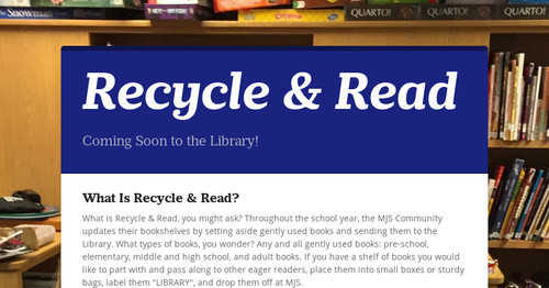 Recycle & Read
