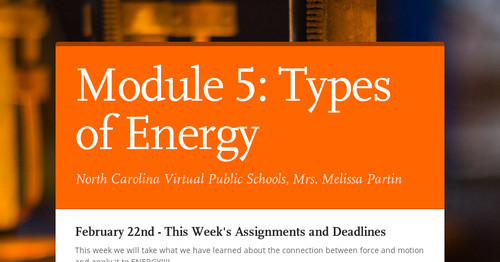 Module 5: Types of Energy