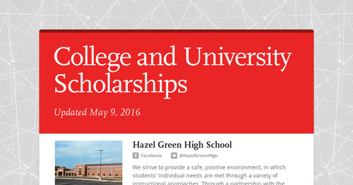 College and University Scholarships