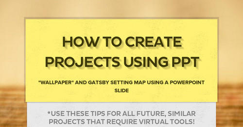 How to Create Projects Using PPT